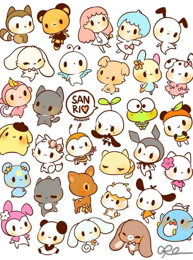 So cute I love San rio characters Cute animal drawings