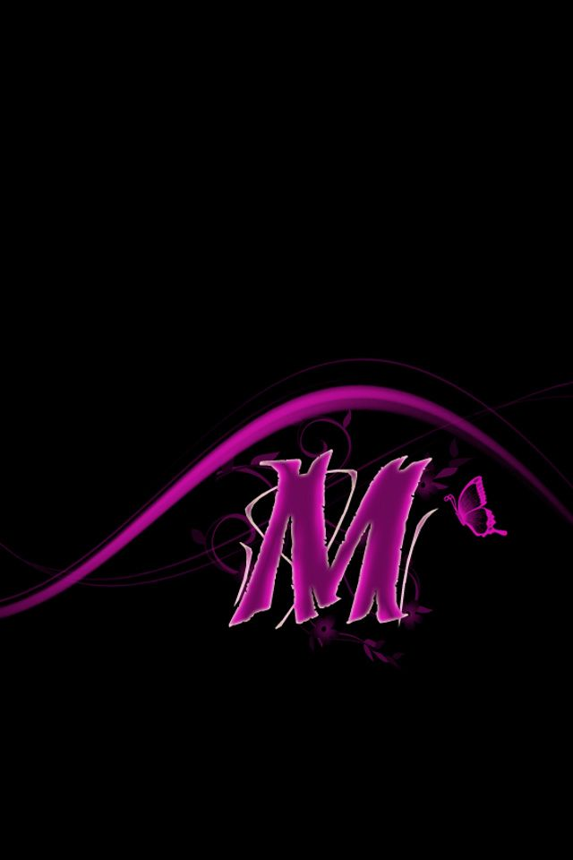 Download Free Designs Wallpaper Pink M With Size 640x960 Pixels For Iphone Sparkle Wallpaper Name Wallpaper Lettering Alphabet