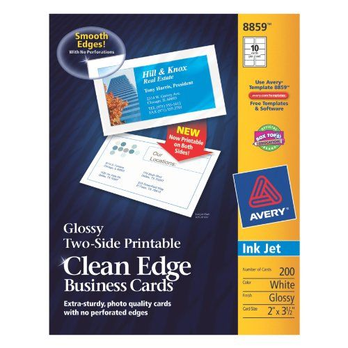 Avery Ink Jet Two Side Printable Clean Edge Business Holiday Adds Avery Business Cards Business Card Template
