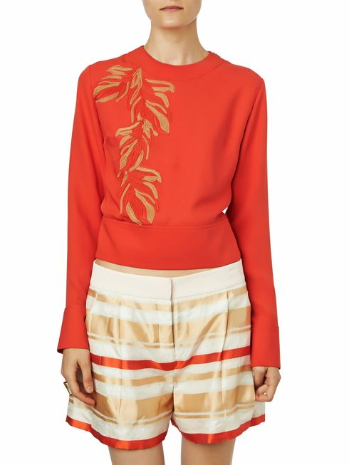 Maiyet Hand Embroidered Tie Back Sweatshirt