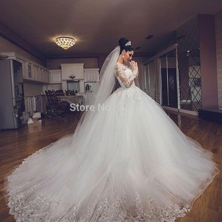 Aliexpress Item Luxury Arab Wedding Dresses Lace