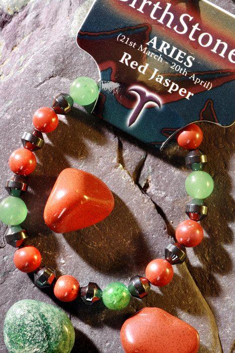 /'CANCER/' Gemstone /'Power Bracelet/' plus a free guide book /& bookmark.