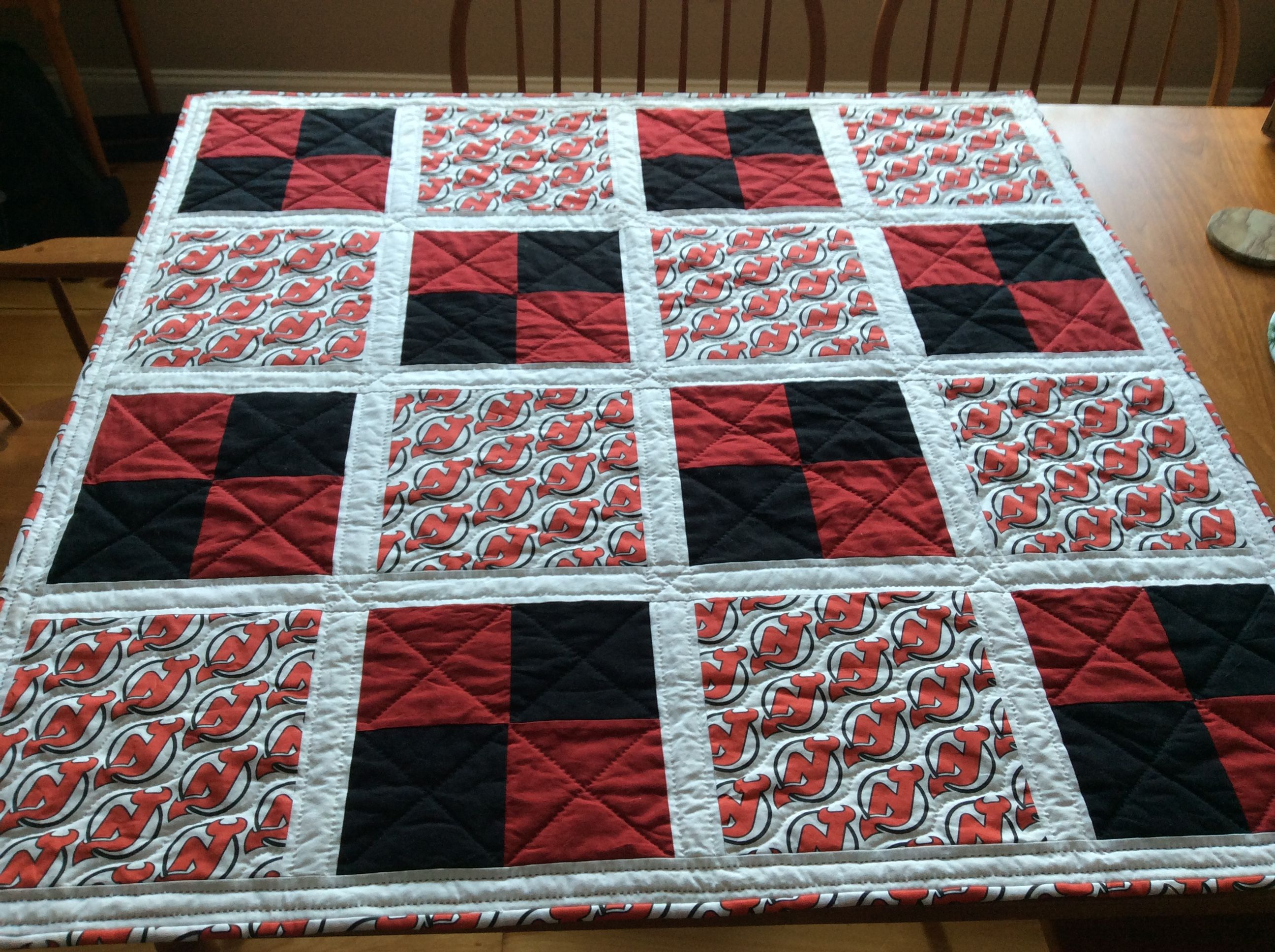 Baby Quilt For The Youngest Hockey Fan Designed Pieced