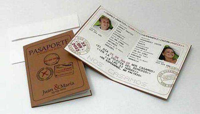 Invitacion De Bodas Tipo Pasaporte Invitaciones De Boda