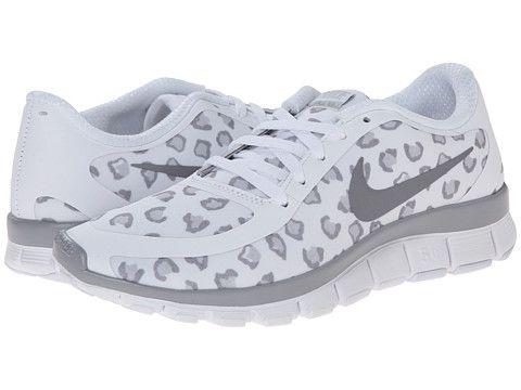986e8bc90635 Nike Free 5.0 V4 White Wolf Grey Metallic Silver - Zappos.com Free Shipping  BOTH Ways