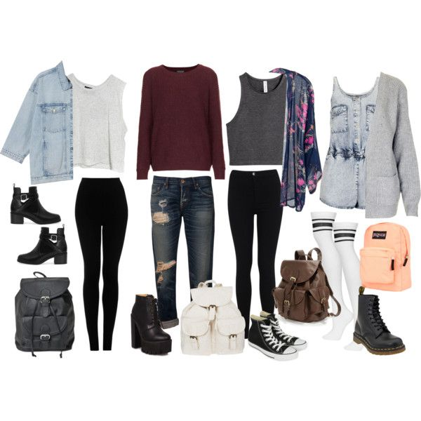 Outfit Ideas For School | fashion | Pinterest | School Polyvore and School outfits