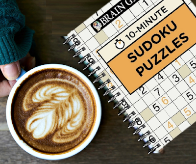 Brain Games 10 Minute Sudoku Puzzles Book Review Puzzle
