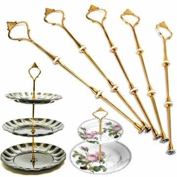 5pcs 3 Tier Cake Plate Stand Handle Crown Fitting Hardware Metal Rod Party Tool Check Out The Image By Visiting T Cake Plates Stand Plate Stands Cake Plates
