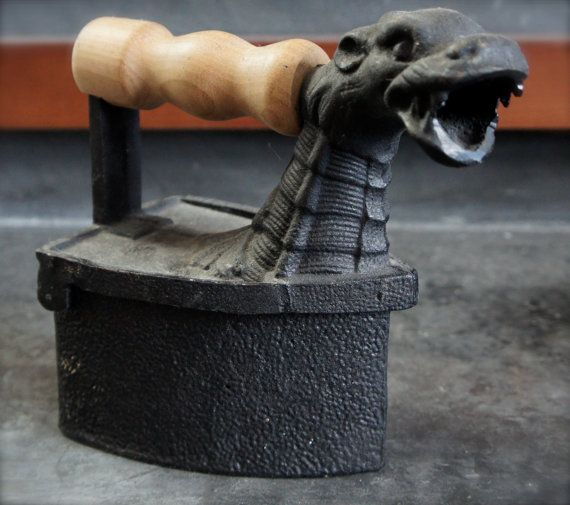 Dragon Monster German Charcoal Iron By Statusdog On Etsy 110 00