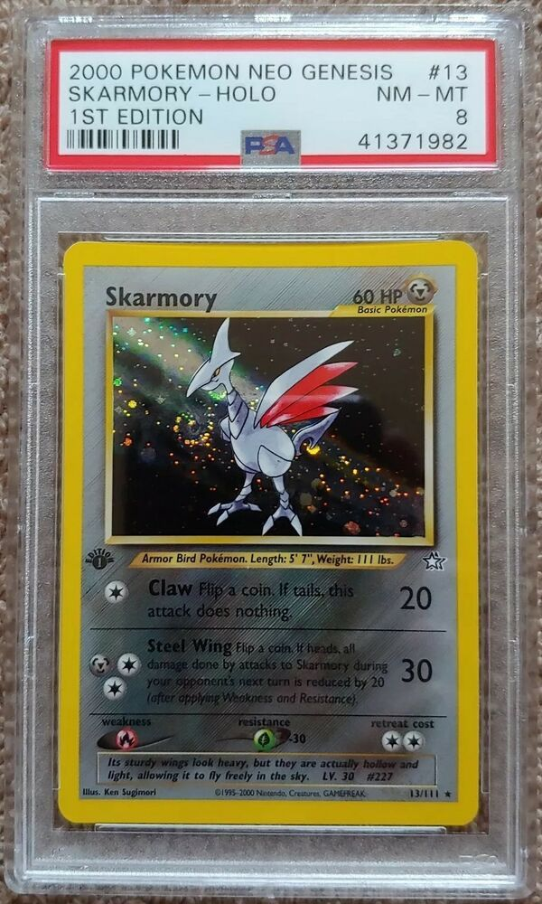Pokemon Card Neo Genesis Skarmory Holo 13//111 PSA 9 Mint