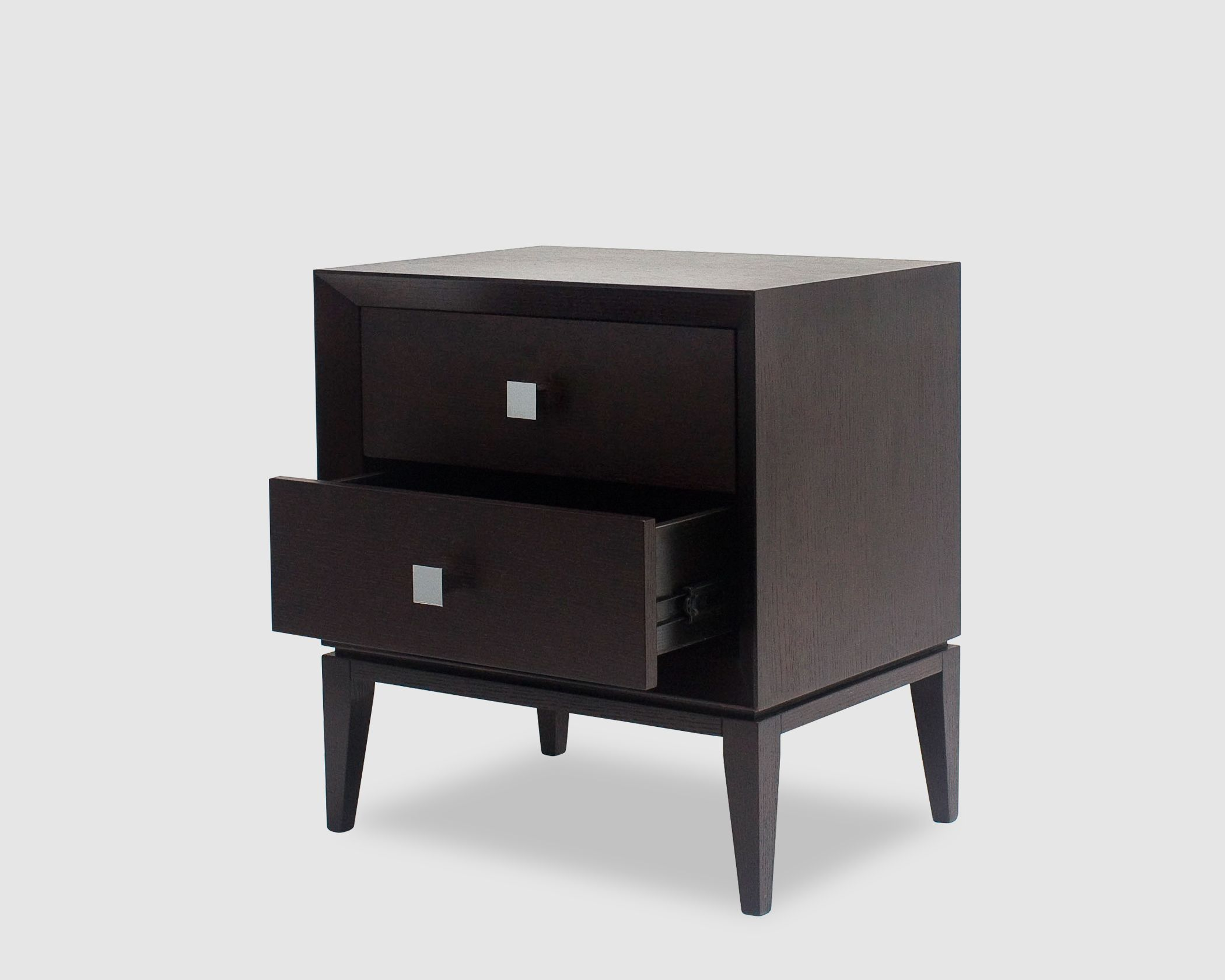 alice wenge oak two drawers bedside table komidin pinterest
