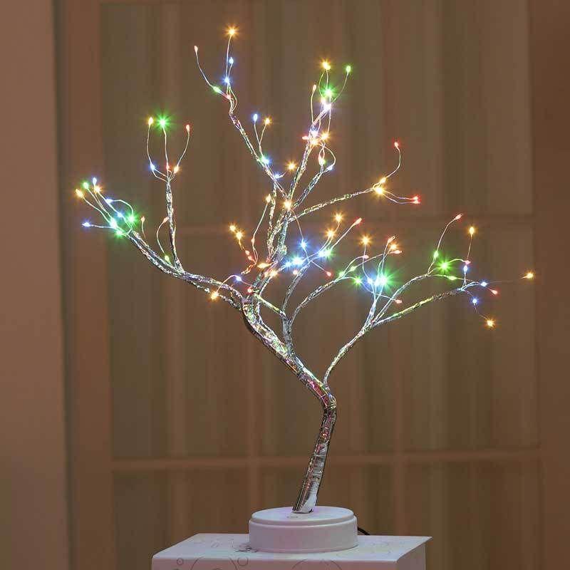 The Fairy Light Spirit Tree Yedwo Home In 2021 Fairy Lights In Trees Fairy Lights Tree Lamp
