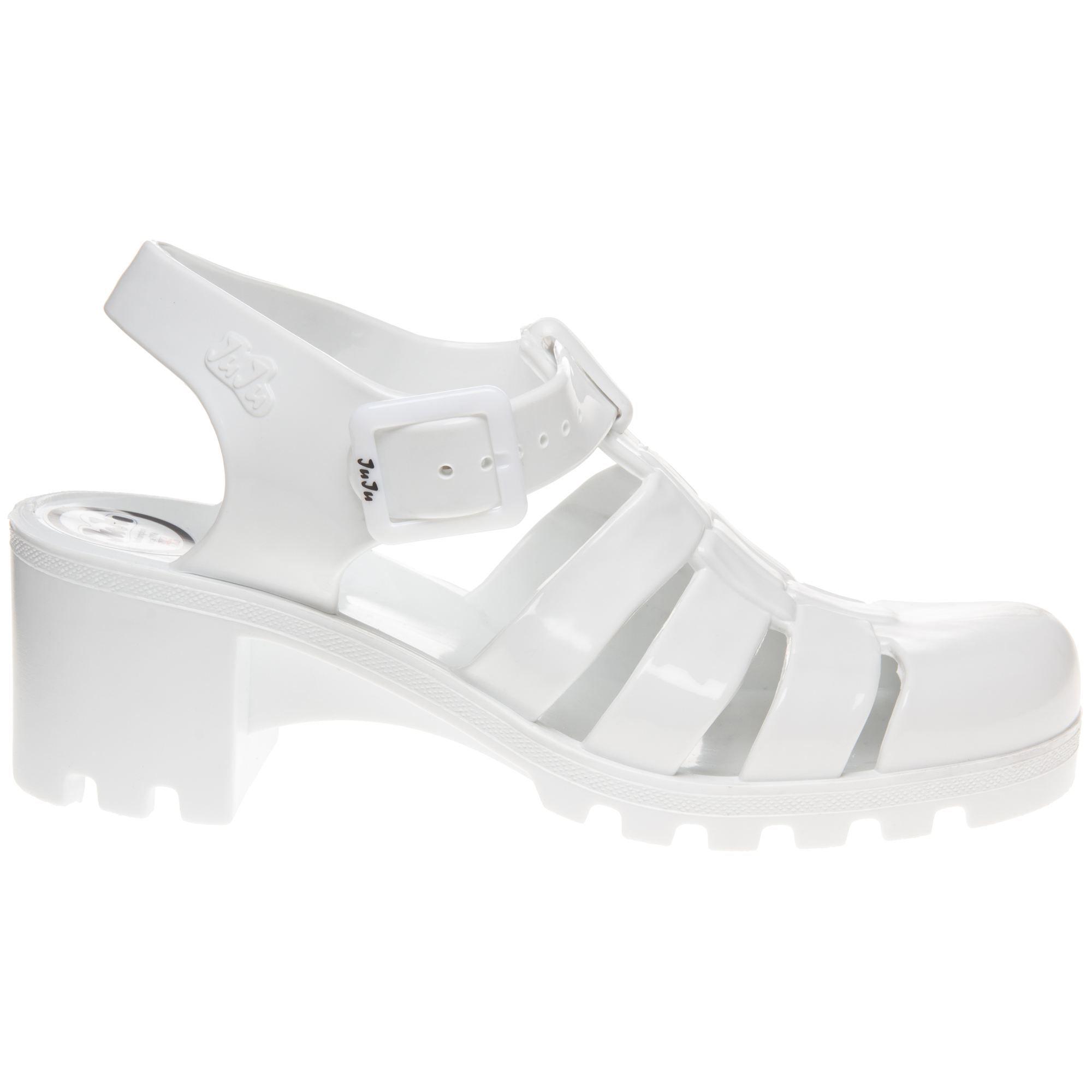 686fd33dc26 Juju Jellies Babe Sandals in white plastic £24.99 Women - SOLETRADER ...