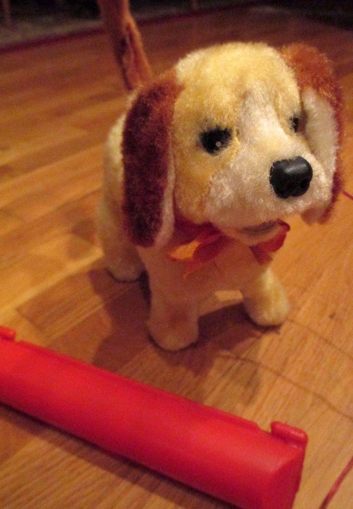 Vintage Original Toy Dog Barking Walking Sitting Flipping Battery