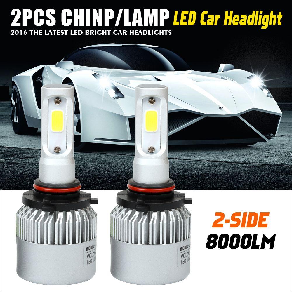 9005 9006 72w Car Led Headlight Bulb Hb3 Hb4 6500k 8000lm Cob Auto Fog Light Headlamp For Toyota R Car Headlights Headlight Bulbs