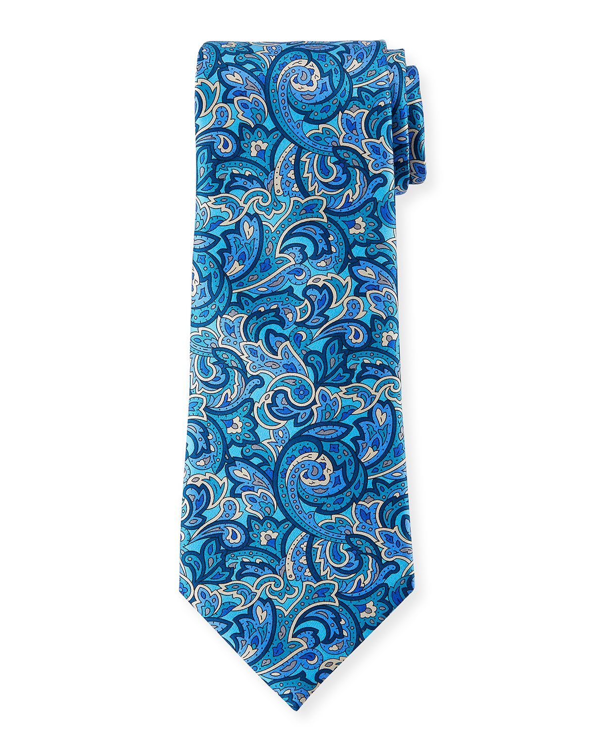 be350d32 ERMENEGILDO ZEGNA MEN'S MEDIUM-SCALE PAISLEY TIE ...