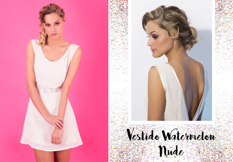 Vestido Watermelon Nude - SS17 de Thirteen Doors | Fruit Party ...