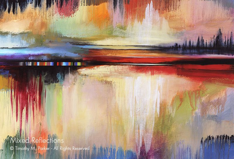 Mixed Reflections Abstract Fine Art Print Abstract Fine Art