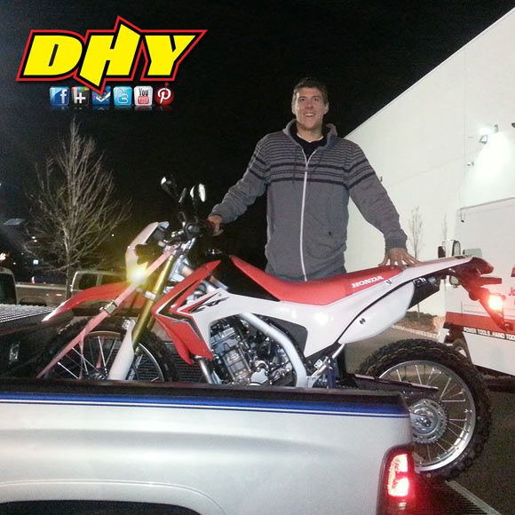 Pat from Palmyra is looking to save a ton of money on gas, with his new Honda CRF250L. Good luck from everyone here DHY!