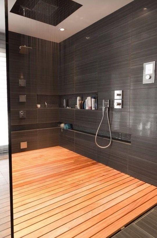 moderne duschen duschboden holz - Moderne Badezimmer Mit Dusche Und2