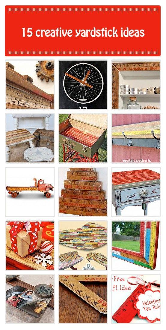 Wonderful Yardstick Creativity Idea Box By FunkyJunk Interiors   Donna Great Ideas
