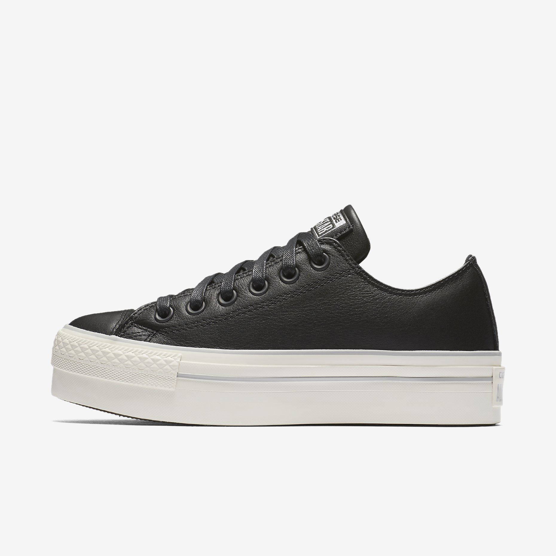 6d888e2c44d7 leather low top platform converse chuck taylor all star sneaker in black