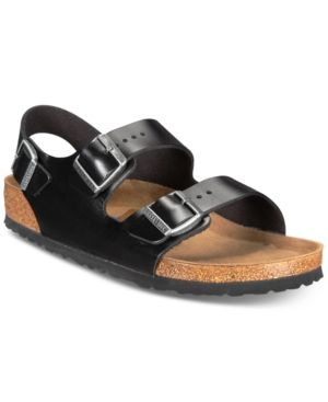 e9355bb5c412 Birkenstock Men s Milano Leather Buckle Sandals - Black 41 ...