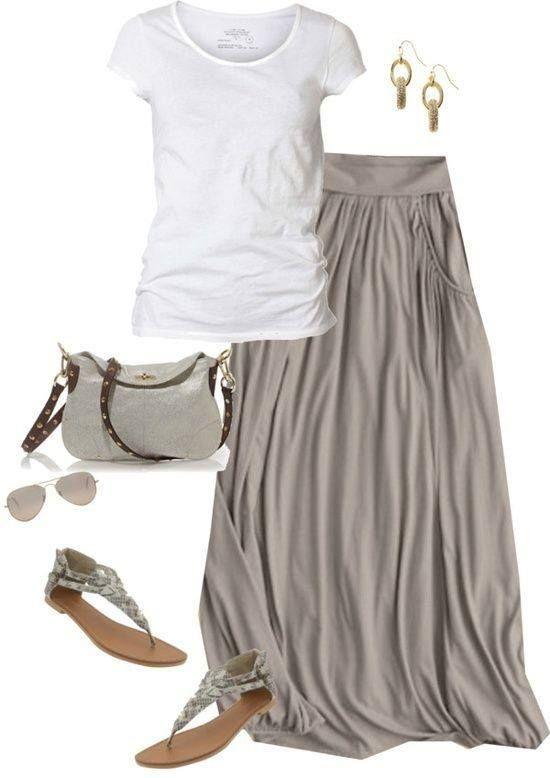 143c9b1fb maxi falda beige | Trapitos | Pinterest