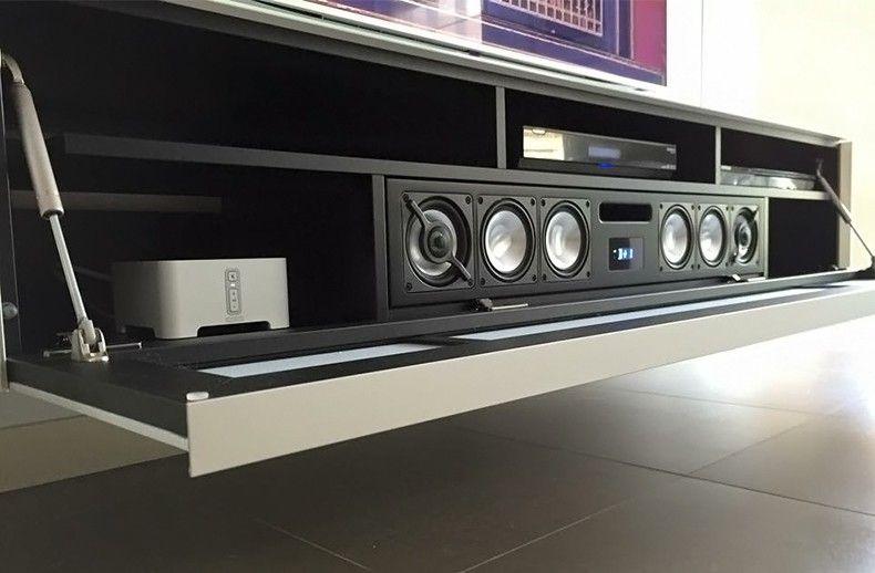 Tv Audio Oplossingen Interieur Paauwe Zonnemaire Tv Muur Decor Stereo Kast Thuis