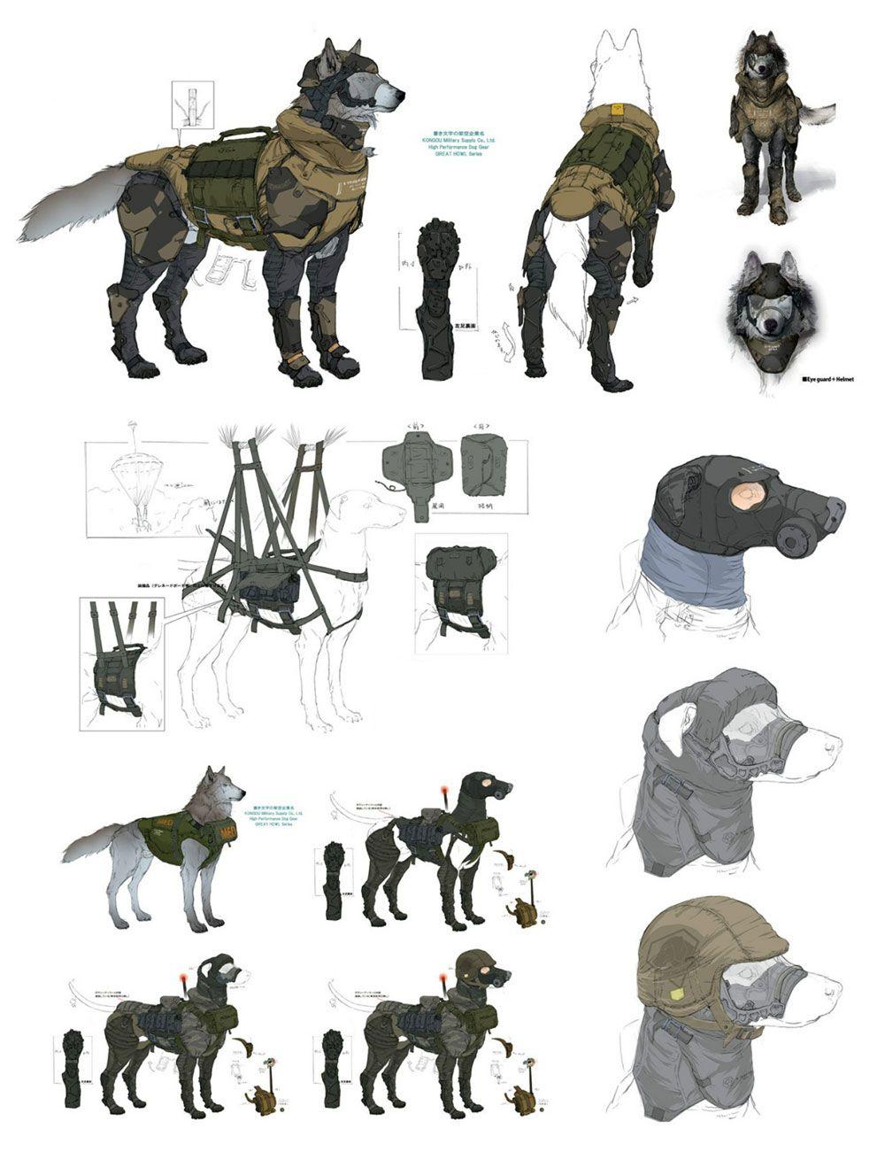 D-Dog Artwork from Metal Gear Solid V #art #artwork #gaming #videogames #gamer #gameart #conceptart #illustration #metalgearsolid #mgs5 #metalgearsolid5