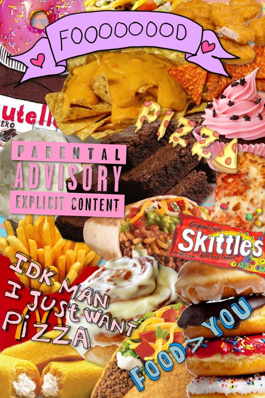 Junk Food Collage Tumblr In 2019 Food Collage Food