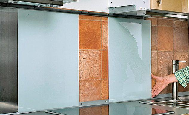 Stoffhimmel Blätterdach im Flur DIY ideas - spritzschutz küche plexiglas