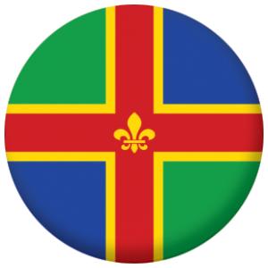 Somerset county flag fridge magnet