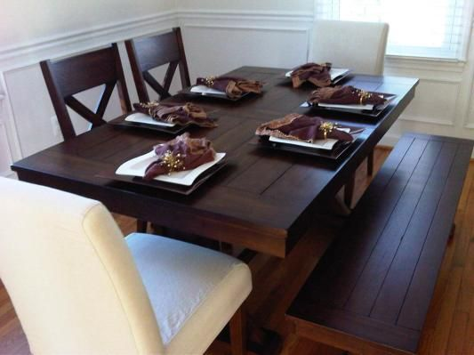 Superior Mahogany Verona Trestle Table