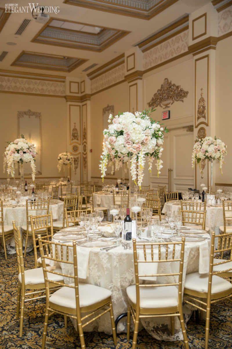 White Gold Luxury Wedding Inspiration Elegantwedding Ca In 2020 Wedding Table Settings Gold White Wedding Decorations Gold Wedding Decorations