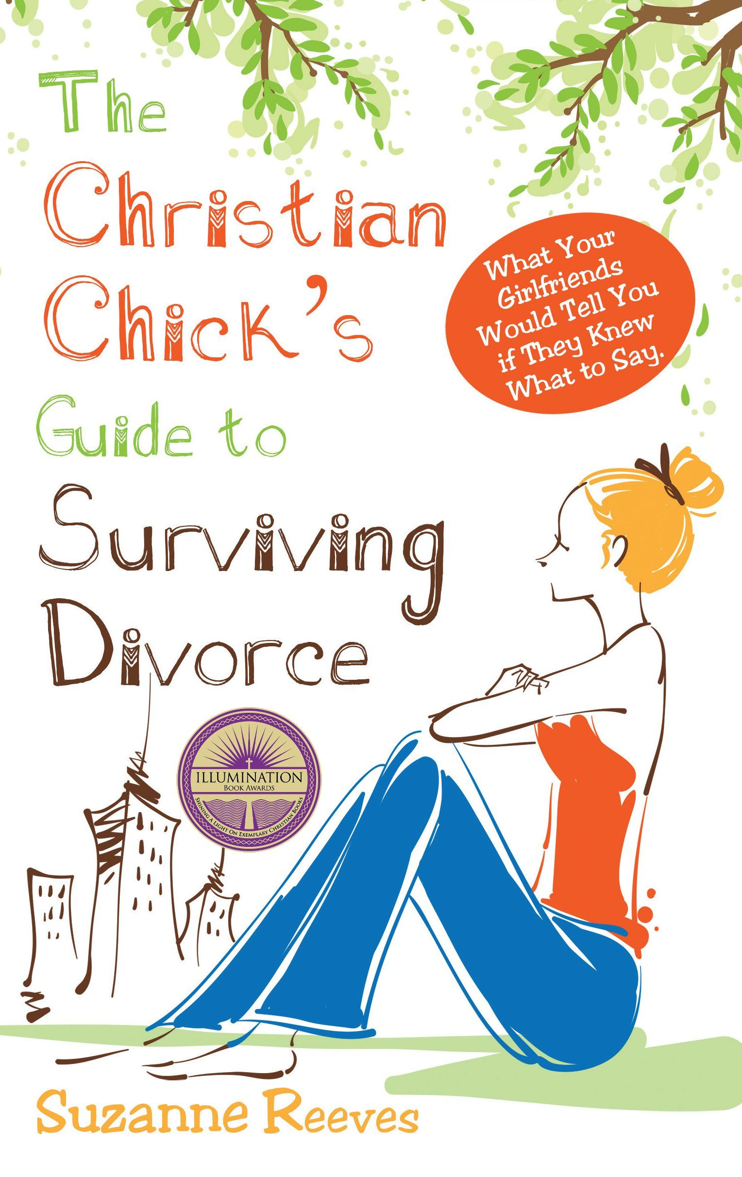Christian Chick's Guide to Surviving Divorce. I know the title sounds cheesy but trust me, this book is awesome! Really really great stuff about surviving divorce and how to cope with it as a Christian.