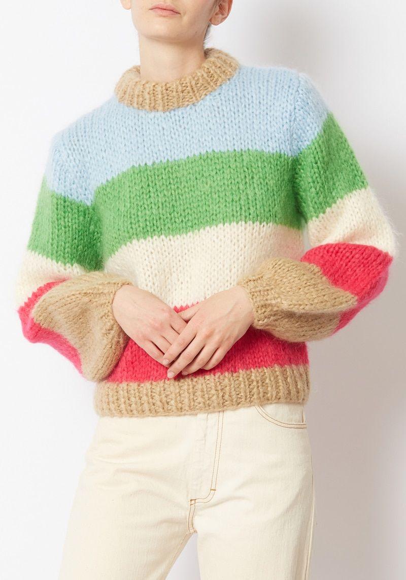 8e6afb059f1 Ganni Striped Julliard Mohair Sweater in 2019 | Relax it's just ...