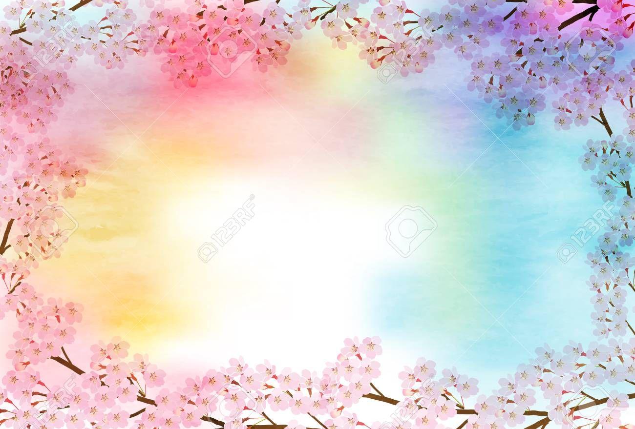 Cherry Blossom spring flower background Illustration