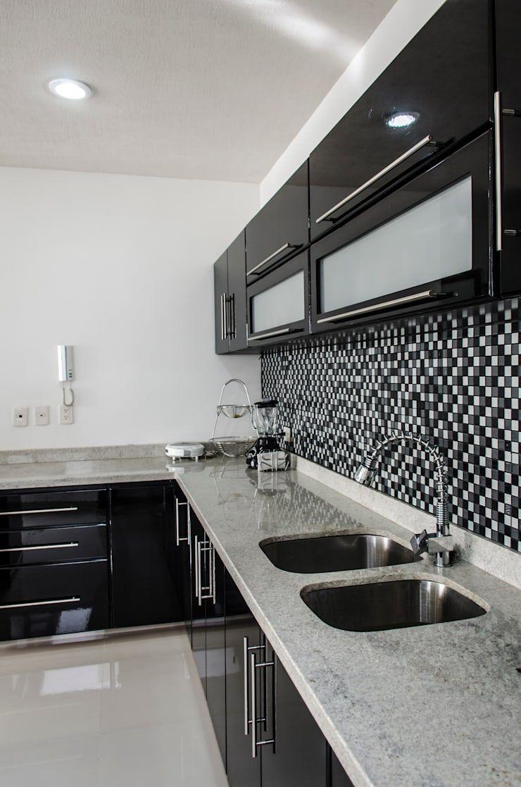Casa Mm De Arqduo Homify Decoracion De Cocinas Negras Decoracion De Cocinas Integrales Decoracion De Cocina