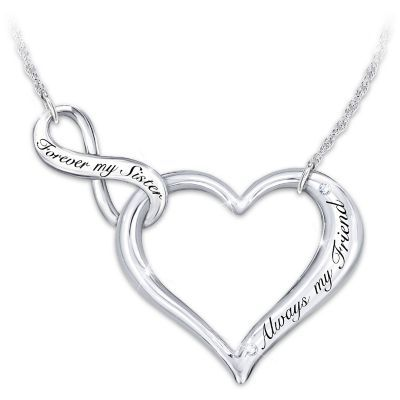 My sister my friend necklace infinity symbol sterling silver my sister my friend necklace aloadofball Choice Image