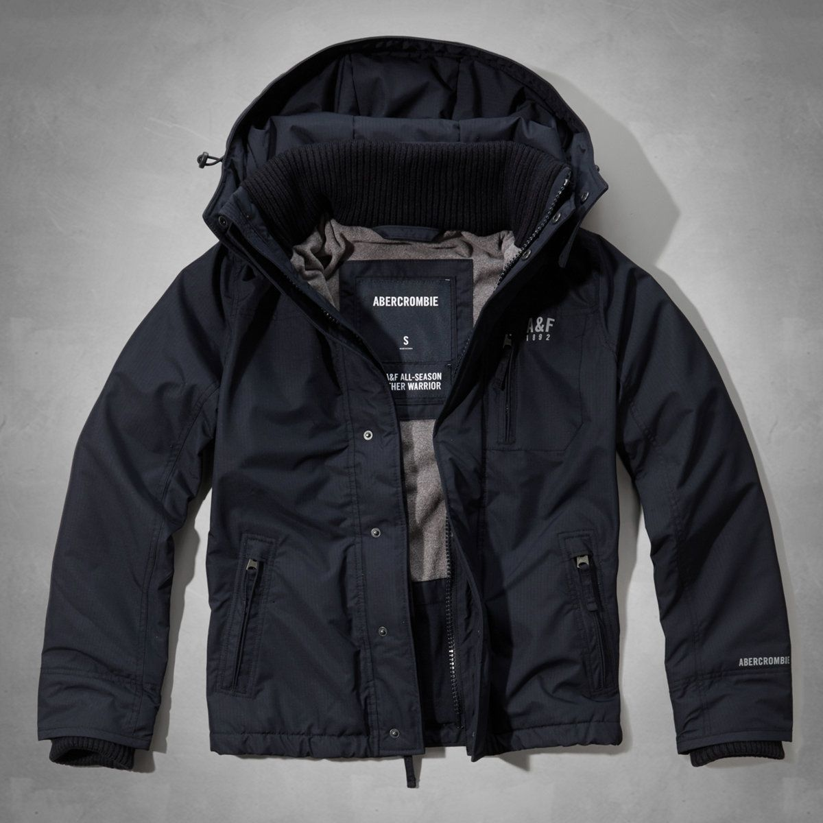 A F All Season Weather Warrior Jacket From Abercrombie Fitch Warriors Jacket Mens Outerwear Jacket Jackets [ 1200 x 1200 Pixel ]