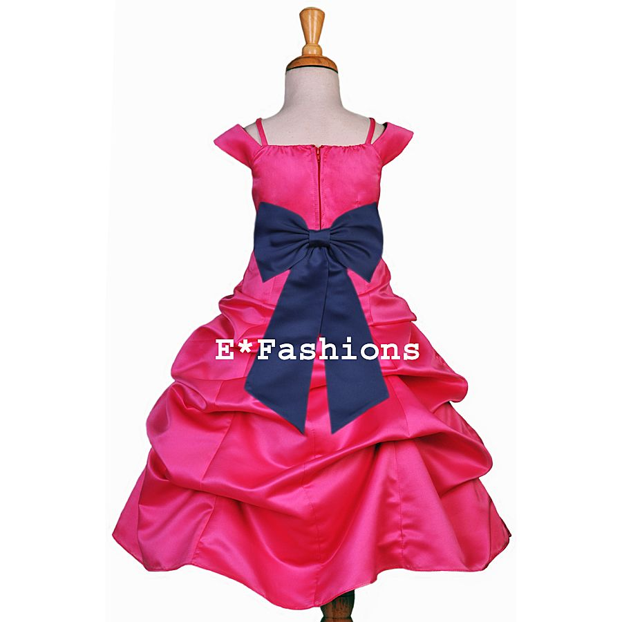 Pink And Navy Flowers Fuchsia Pink Navy Blue Bridesmaid Flower