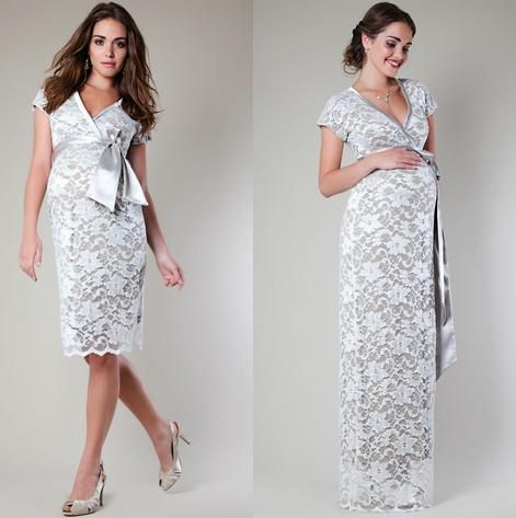 Modelos de vestidos de noche para embarazadas