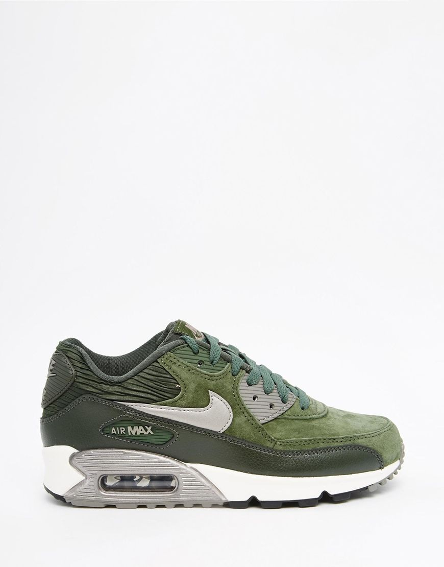 info for 04674 48d74 Image 2 of Nike Air Max 90 Carbon Green Trainers