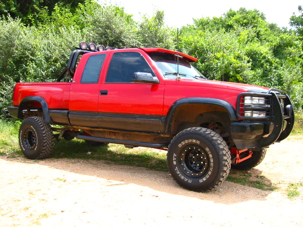 All Chevy 95 single cab chevy : Lifted Red Chevrolet Silverado Truck | Chevy | Pinterest ...