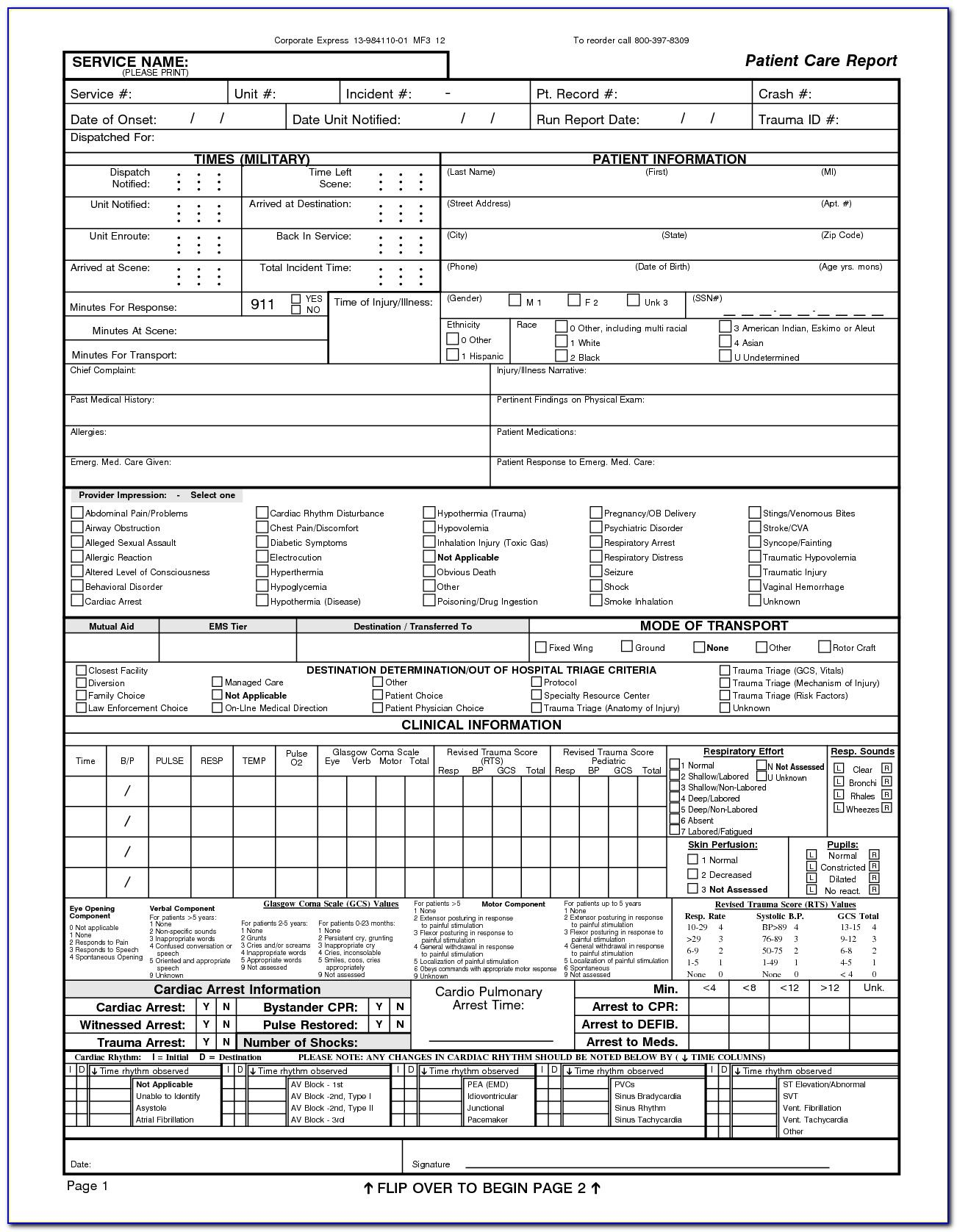 Ems Patient Care Report Forms Form Resume Examples Inside Patient Care Report Template Best Sample Temp Patient Care Report Template Report Template Word
