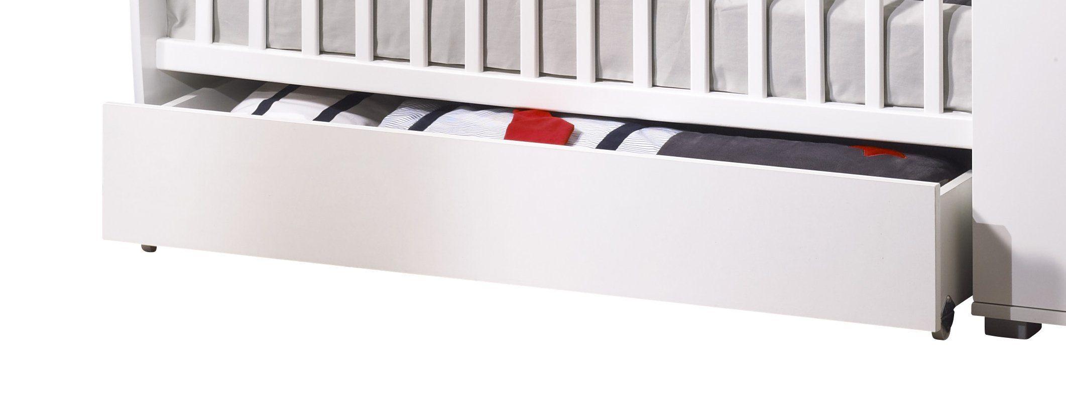 Tiroir Pour Lit Chambre Transformable Nature Blanc Sauthon  # Sauthon Meubles