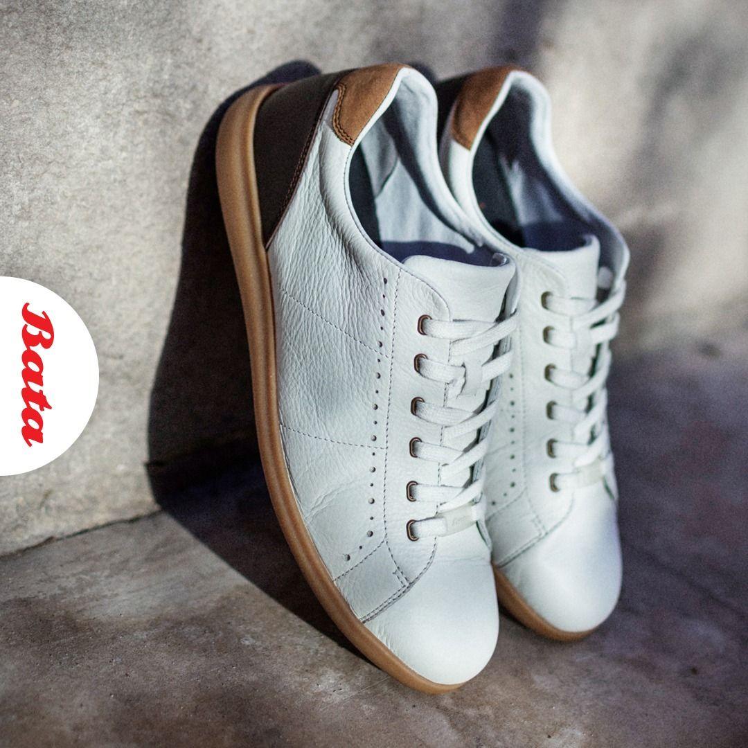 Bata Men S White Leather Sneakers White Leather Sneakers Men Leather Sneakers Men Sneakers Men