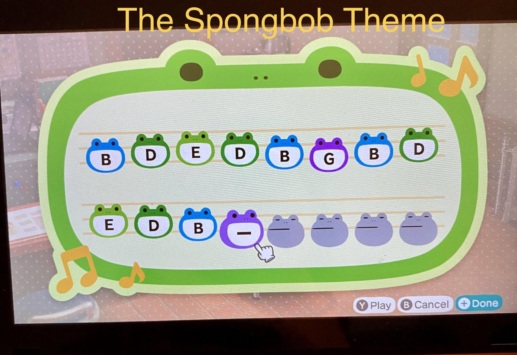 Animal Crossing New Horizons The Spongebob Theme In 2020 Animal Crossing Music Animal Crossing Town Tune Animal Crossing 3ds