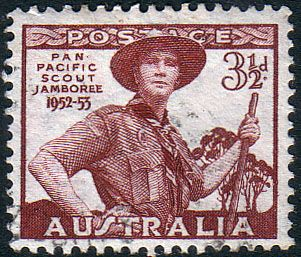 Australia 1952 Pan Pacific Scout Jambore Fine Used SG 254 Scott 249 Other Scouting Stamps HERE